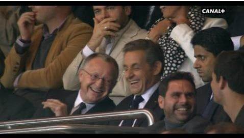 L'OL marque contre le PSG, Aulas et Sarkozy en mode MDR