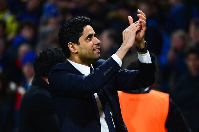 Nasser Al-Khelaifi a la banane avant PSG-Barcelone