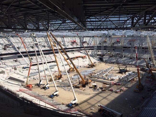 Photo : Le Grand Stade de l'OL prend forme