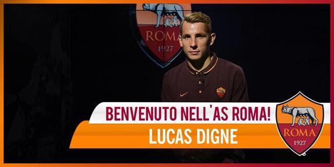 Officiel : Lucas Digne prêté à l'AS Rome pour 2,5ME