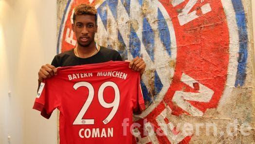 Kingsley Coman prêté au Bayern Munich jusqu'en 2017