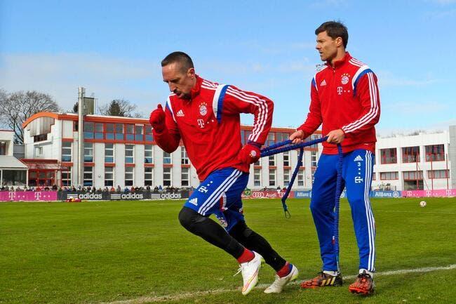 264 jours plus tard, Ribéry a repris l'entraînement au Bayern