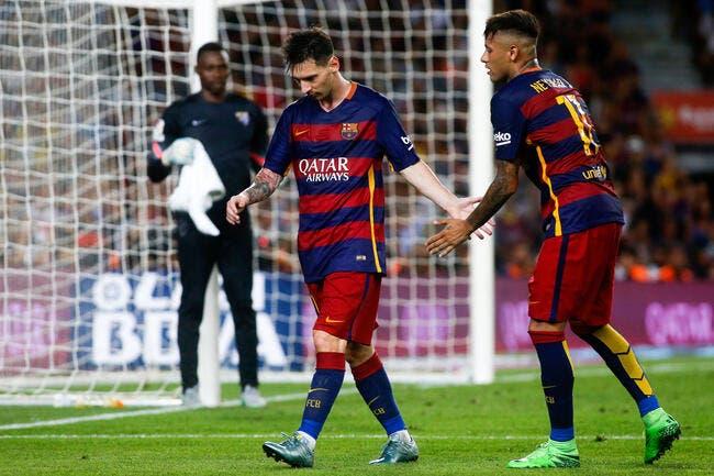 Dans le rouge, le Barça risque de perdre Messi ou Neymar