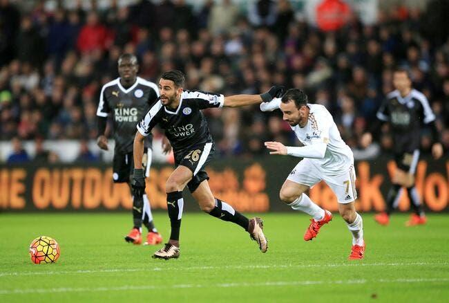 Un triplé de Mahrez et Leicester seul leader de Premier League !
