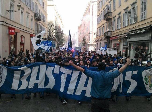 Photo : Bastia fait la fête après sa qualification