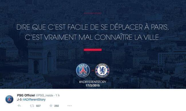 Le PSG chauffe Chelsea sur Twitter