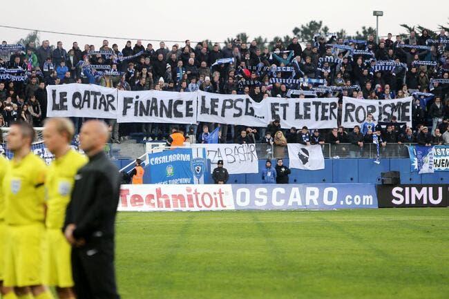 Bastia convoqué pour la banderole anti-Qatar