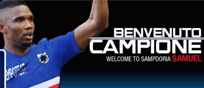 La Sampdoria officialise la signature d'Eto'o
