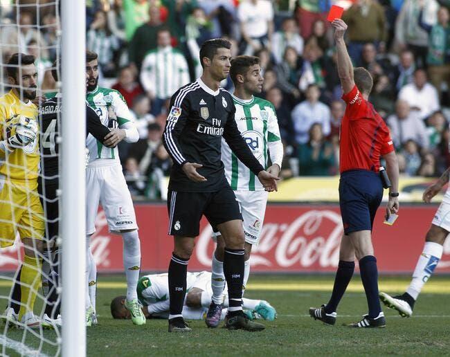 Cristiano Ronaldo suspendu seulement deux matches