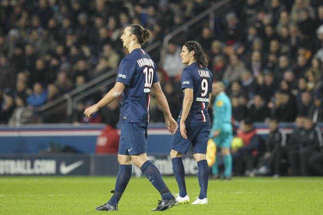 Le duo Ibra-Cavani ne donne pas satisfaction au PSG