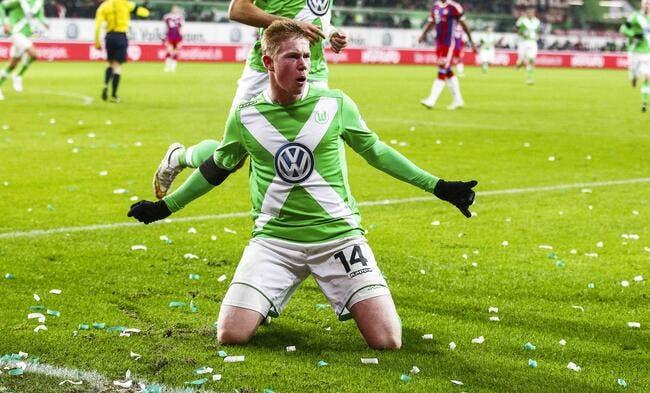 Wolfsburg nargue le PSG avec De Bruyne