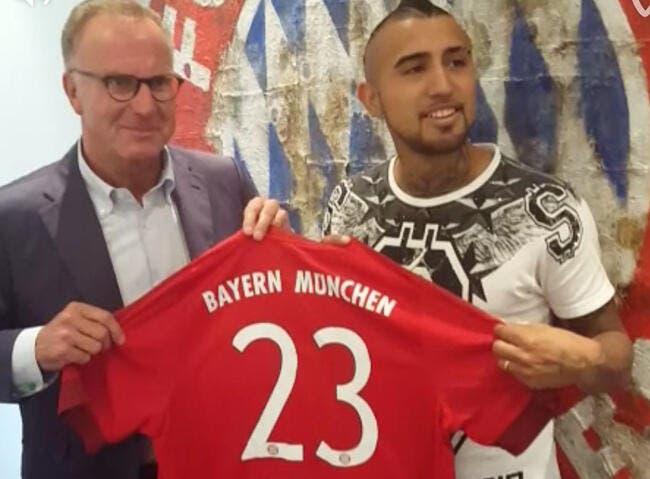 Officiel : Arturo Vidal au Bayern Munich jusqu'en 2019