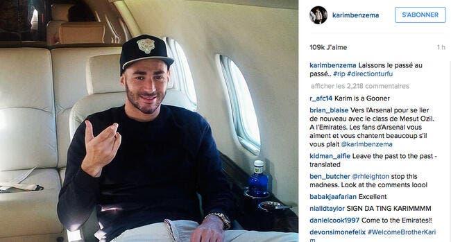 Une photo, un commentaire et Benzema enflamme le mercato !