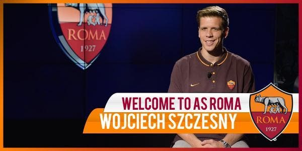 Szczesny prêté par Arsenal à l'AS Rome