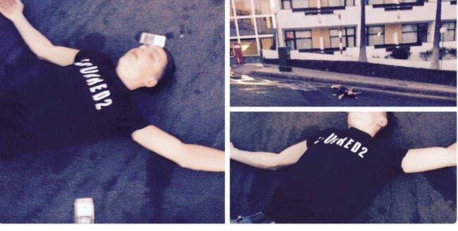 Ivre mort, un joueur d'Aston Villa dormait sur le trottoir