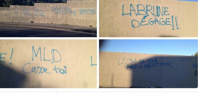 Des tags anti-Labrune et MLD à la Commanderie !