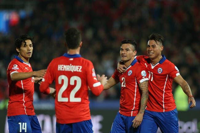 Houleuse qualification du Chili face à l'Uruguay