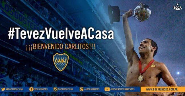 Officiel : Tevez revient à Boca Juniors