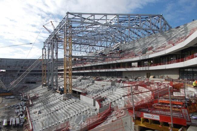 Arena de l'OL : C'est parti pour la pose du toit