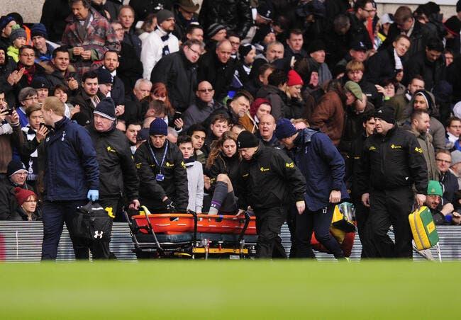 Lloris sort sur blessure avec Tottenham