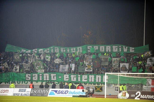 Les supporters individuels de l'ASSE interdits contre Evian TG