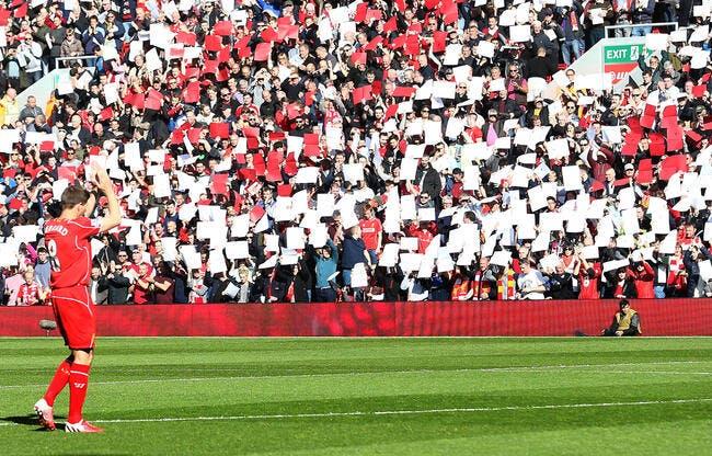 Photo : L'énorme hommage de Liverpool à Gerrard