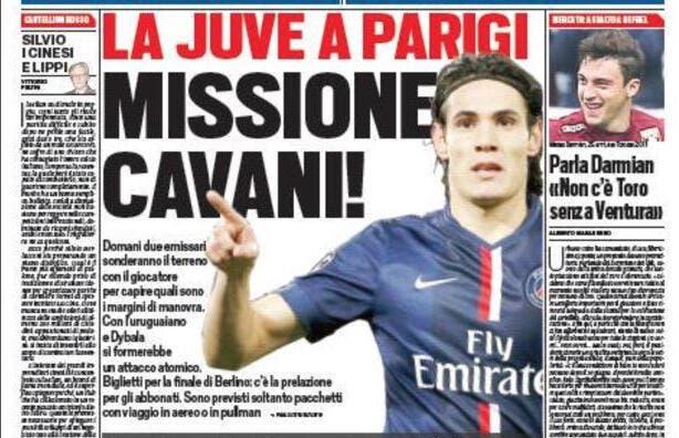 La Juventus débarque à Paris pour acheter Cavani