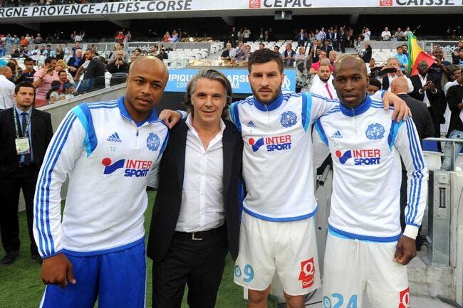 Ayew, Gignac et Fanni posent avant de quitter l'OM