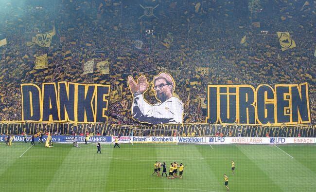 Photo : L'énorme hommage de Dortmund à Jürgen Klopp