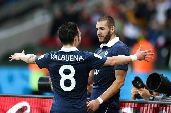 Benzema-Valbuena, tout sauf des ennemis en Bleu