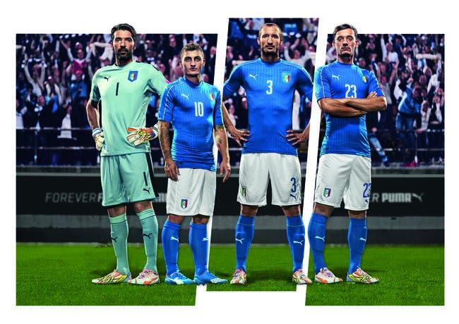Photo : Puma dévoile le maillot de l'Italie pour l'Euro 2016