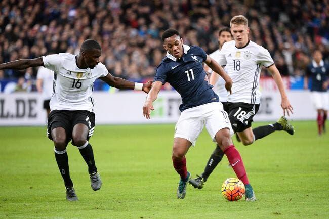 La France bat l'Allemagne 2-0