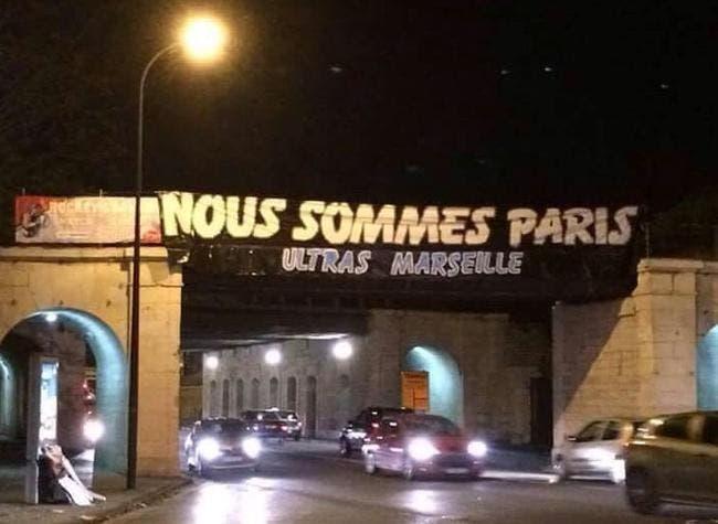 La banderole des Ultras de l'OM vandalisée, ils en refont une