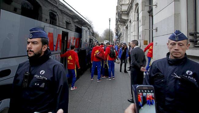Le match amical Belgique-Espagne annulé