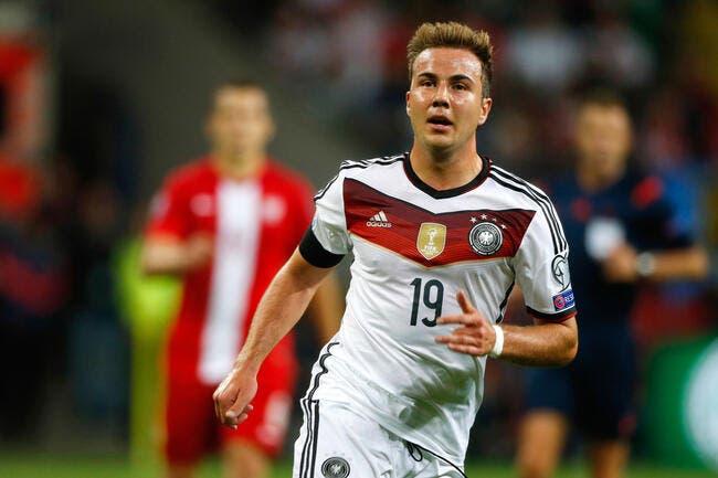Le Bayern Munich perd Götze pour 10 à 12 semaines