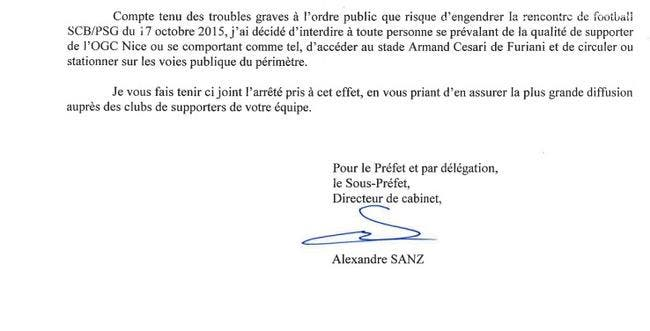Oups, les supporters niçois interdits à… Bastia-PSG