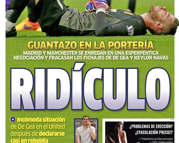 Le Real Madrid se fait détruire pour le fiasco De Gea