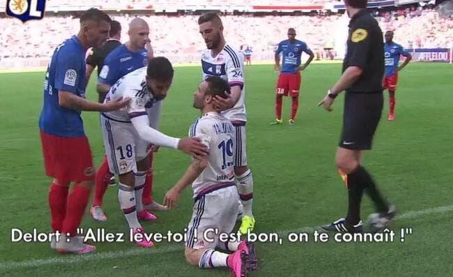 Valbuena pourri par Delort lors de Caen-OL