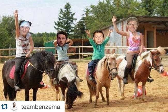 Benzema riposte avec une photo à Riolo, Ménès, Larqué...