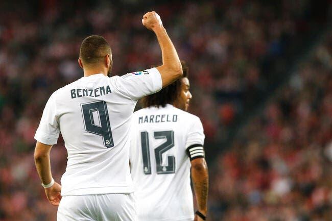 Benzema voit double avec le Real
