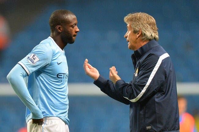 PSG-Man City: Yaya Touré, Pellegrini n'y croit pas