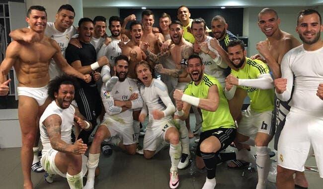 Photo : Cristiano Ronaldo en slip pour fêter l'exploit de Madrid