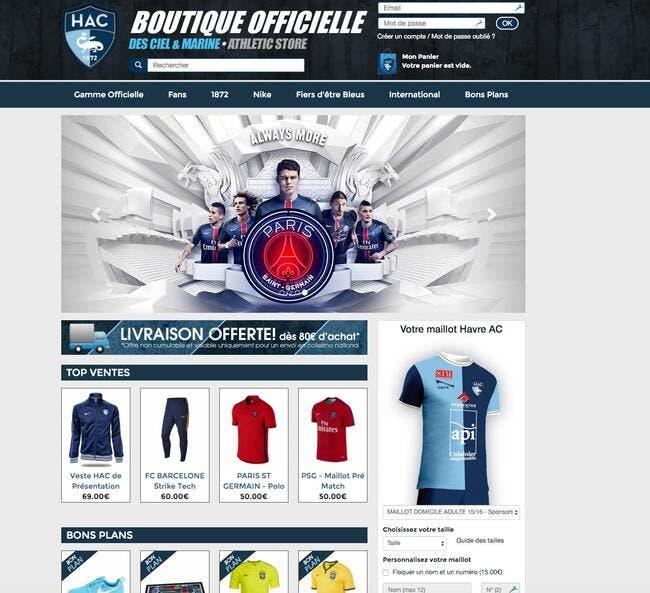 Quand la boutique du Havre vend des maillots... du PSG