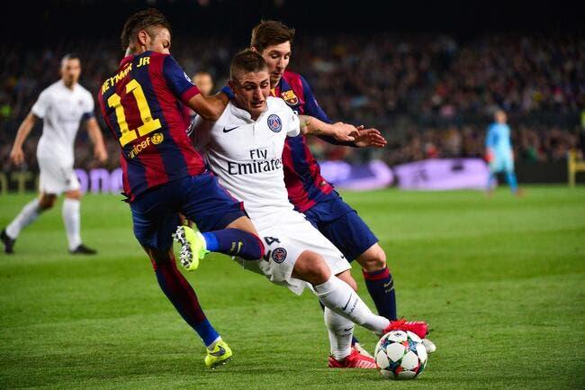 PSG : Verratti tenté par Barcelone, mais bloqué à Paris