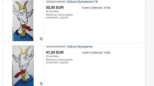 OM : Les chèvres de l'OM en vente sur Ebay, et c'est pas cher