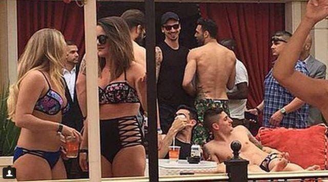 Photo : Des joueurs du PSG fêtent leur titre à Las Vegas