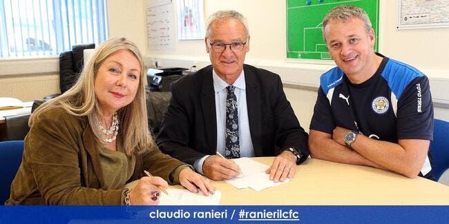 Officiel : Ranieiri prolonge jusqu'en 2020 à Leicester