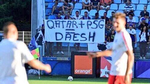 PSG : Paris, Qatar, Daech, une banderole retirée à Bastia