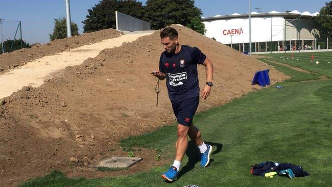 Caen : Andy Delort a repris l'entraînement