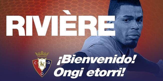 Officiel : Rivière prêté une saison à Osasuna